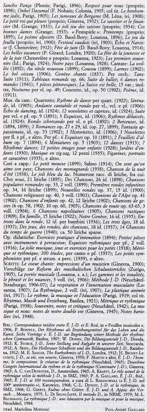 Emile jaques dalcroze biografia in italiano